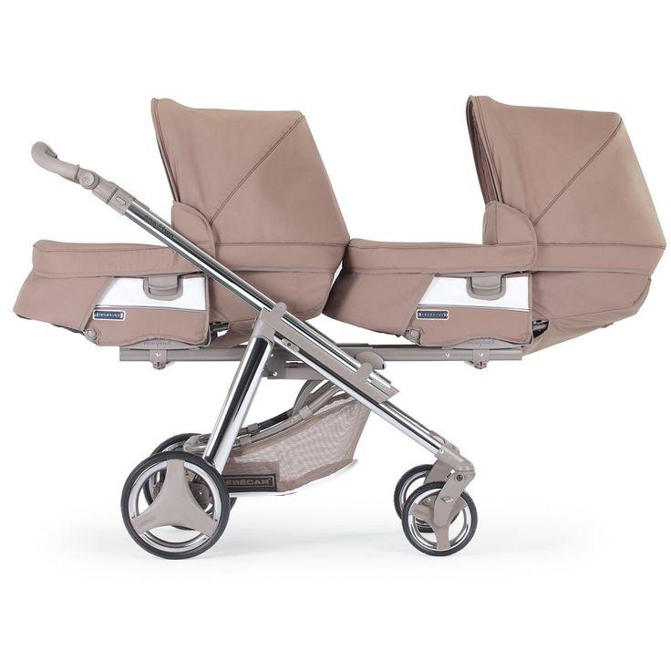 #Zwillingskinderwagen SE306 von Bébécar - #Kinderwagen für #Zwillinge bei uns im #Babyshop erhätlich, hier in der Ansicht mit 2 Wannenaufsätzen, die Aufsaätze des besonderen Kinderwagen können zu Sportwagensitze umgbaut werden http://baby-lucien.de/Zwillingskinderwagen-One-Two-SE361::143.html