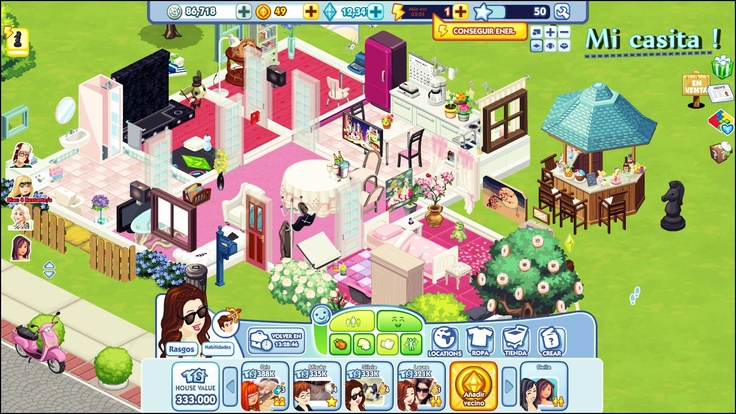 My house in the Sims Social on FaceBook :P