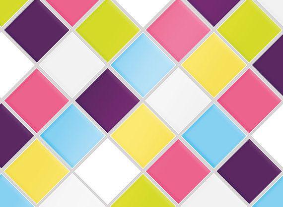 "Kitchen Tile Decal Tile Stickers Set ""Bonbon"" for bathroom or kitchen, Tile Mural, Tile Cover, Tile Coasters"