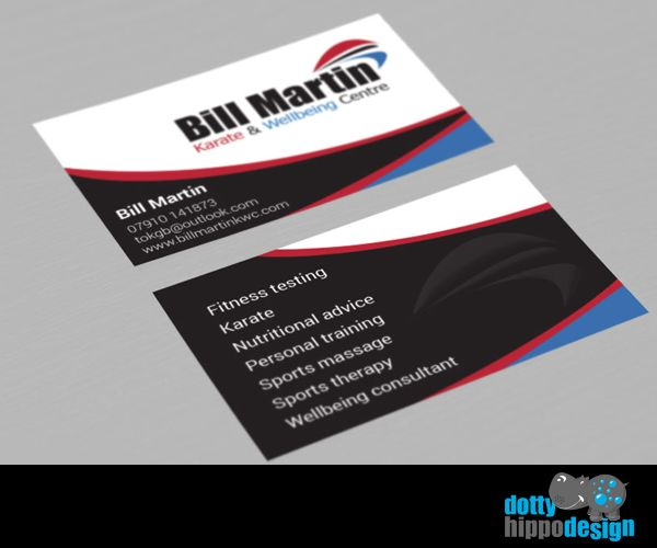 Business card design for Bill Martin