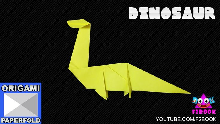 How to make an Easy Origami Dinosaur - How To Make Paper Craft F2BOOK Vi...
