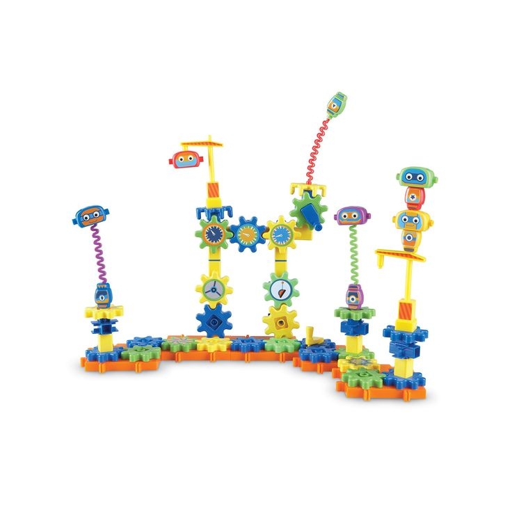 Learning Resources Gears! Gears! Gears! Robot Factory Building Set, Multicolor