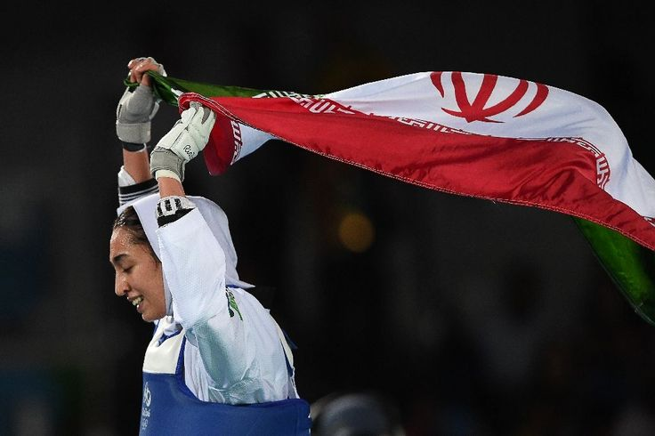 Iran's Kimia Alizadeh Zenoorin made history Thursday night, claiming bronze in the 57-kilogram class of taekwondo and, in so doing, becoming the first Iranian woman to win a medal in any Olympic event.  Alizadeh defeated Sweden's Nikita Glasnovic to win the historic medal.  The International Olympic