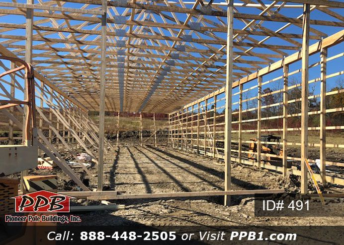 Framing 40 W X 120 L X 16 6 H Id 491 Pole Buildings Building Cost