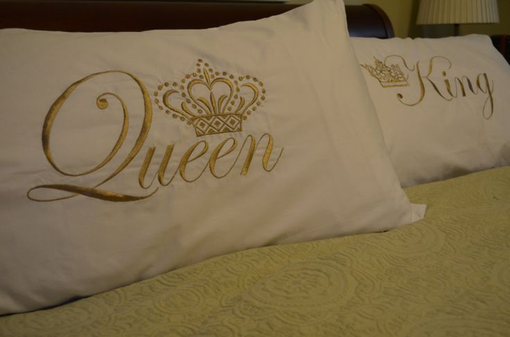 King & queen pillow cases