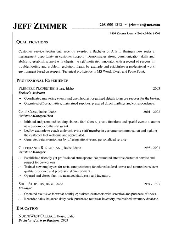 7 best good resume examples images on pinterest good resume