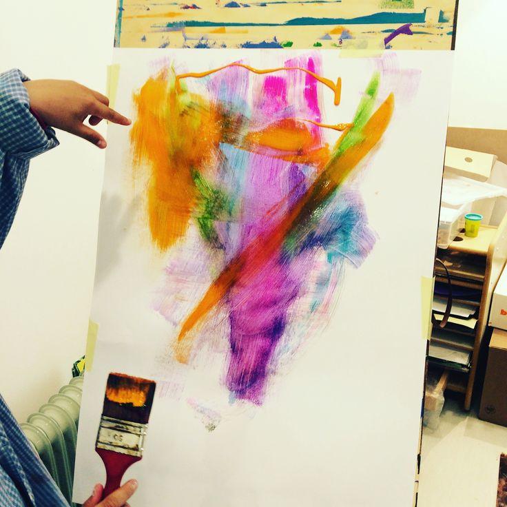Emotions#paintinghappiness#arttherapy#sabrinamazzola