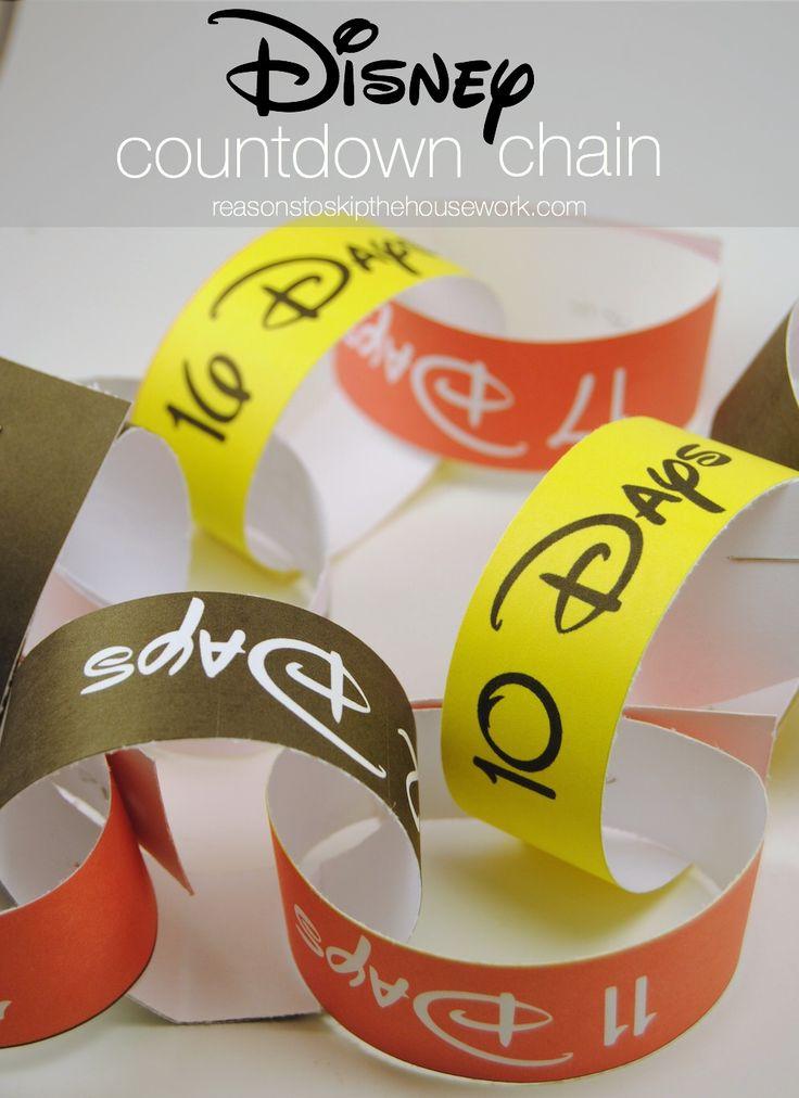 Disney Countdown Chain from www.reasonstoskipthehousework.com