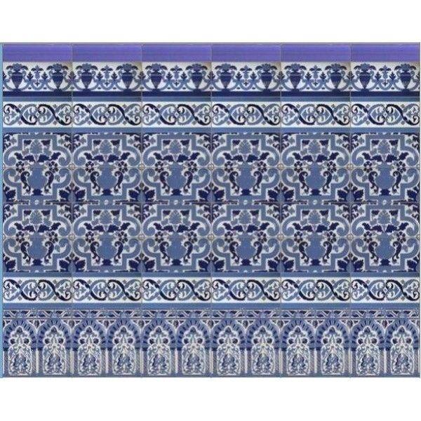 32 best azulejos artesanos granadinos images on pinterest tiles paint baseboards and mosaics - Azulejos patio andaluz ...