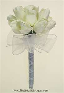 Wedding bouquet- white tulips- Bridesmaids bouquets -posey bouquet style