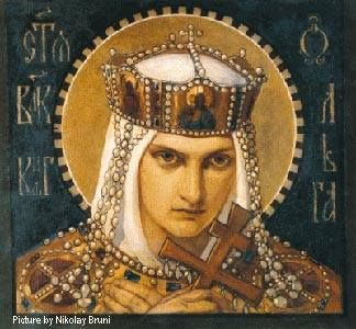 The story of Princess Olga of Keiv, the villainous Russian princess, now known as a saint who burnt alive her entire city in vengeance for her husband's death.  https://www.facebook.com/throughthemoonroof