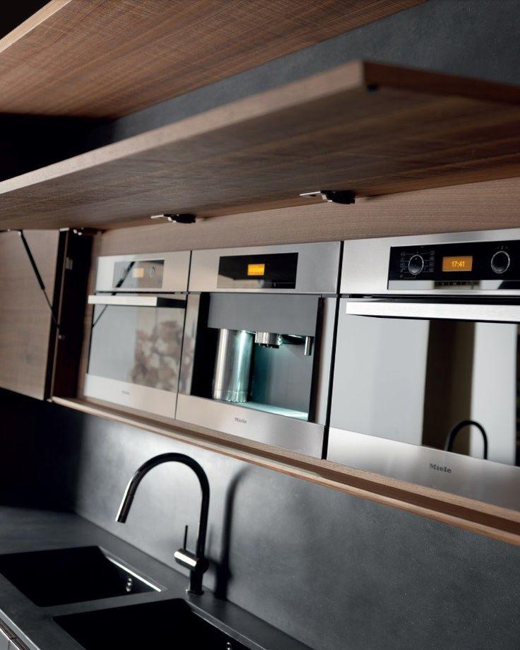 Cucina in cemento con isola WIND CEMENTO ETA NOIR by TONCELLI CUCINE | design Federica Toncelli