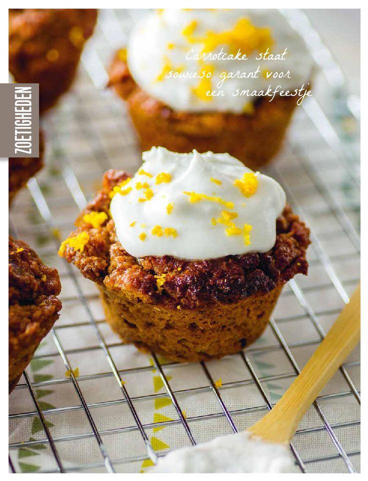 Carrotcake muffins met chufameel
