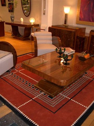 "Art Deco Collection Custom Carpet • ""Ruhlmann"" Red"