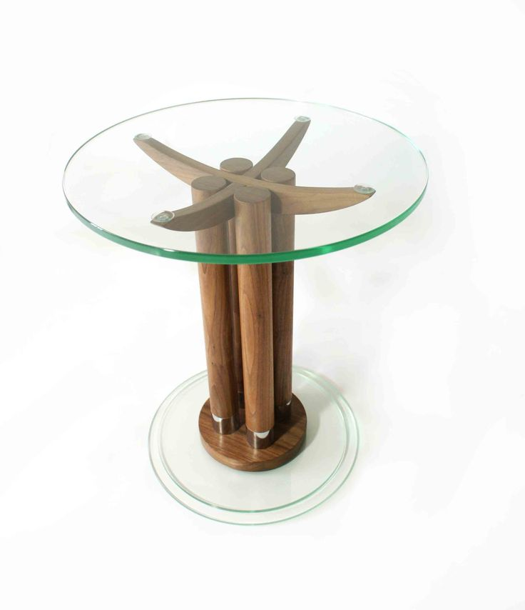 Marvelous Button Coffee Table   Solid Walnut And Glass Pedestal Coffee Table By Lee Sinclair  Furniture Www