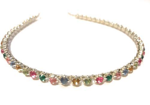 Multi-Color-Rhinestone-Metal-skinny-headband-hair-band-accessory