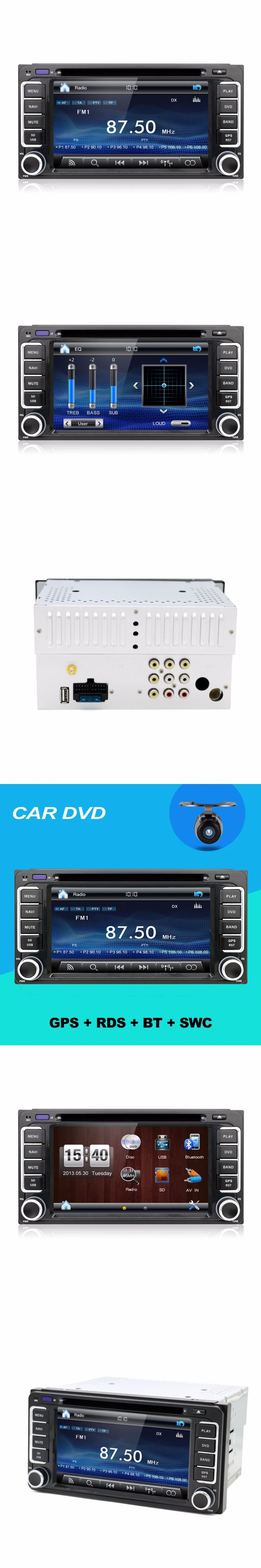 Touch Screen Car DVD GPS Navigation 2DIN For toyota Stereo Radio Bluetooth USB/SD Universal Player audio stereo parking free cam