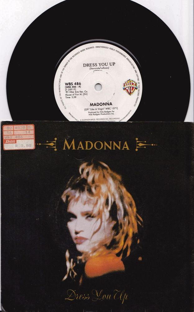 """MADONNA Dress You Up 1984 South Africa Issue Very Rare 7"""" 45 Vinyl Record WBS486 