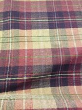 Black, Red & Mustard Chenille Checked Curtain Fabric! Upholstery Weight! £14.50 metre #sale #fabric #checked #tartan #material #curtain