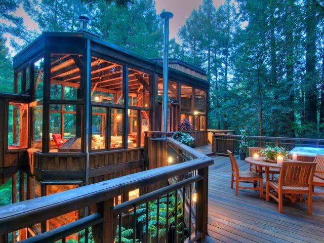 Marin County Tree House In The Forest, Mill Valley, California