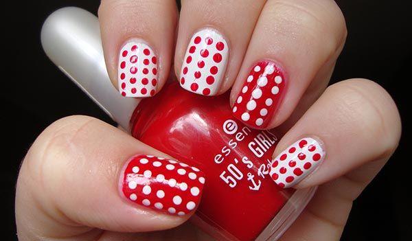 •♥• Маникюр (Manicure) •♥• Дотс •♥• Дизайн ногтей с использованием дотса! Чтобы сделать маникюр с инверсией цвета — поменяйте порядок нанесения цвета на двух пальцах.