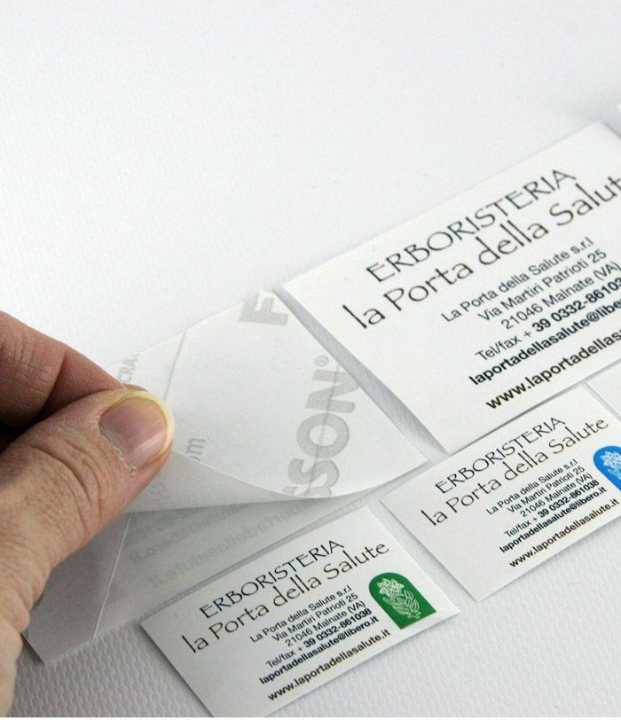 Stampa etichette in carta