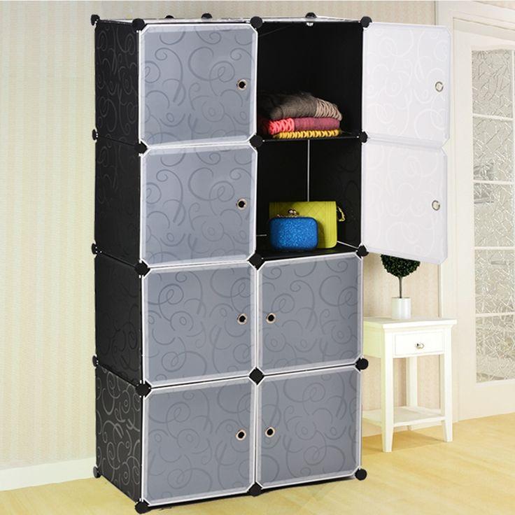 New Homdox W rfel DIY Kleiderschrank Kunststoff Kleiderschrank Organisation Schr nke f r Verkauf Benutzerdefinierte Schr nke Mantel Schrank