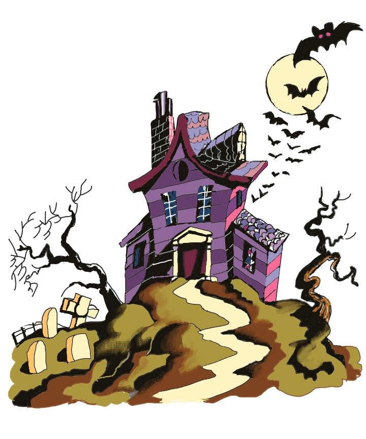 274 best Cards - Halloween Houses, Trees & Fences images ...