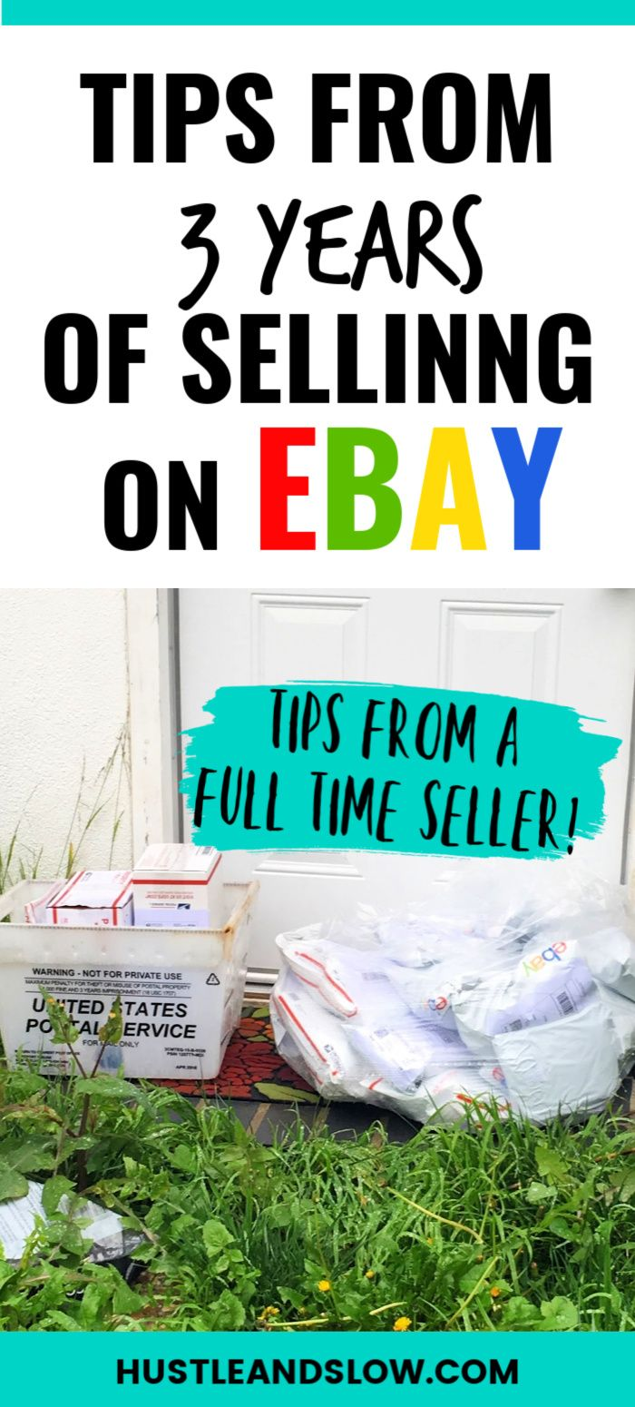 What I Learned After 3 Years Selling On Ebay Hustle Slow Ebay Selling Tips Ebay Business Selling On Ebay