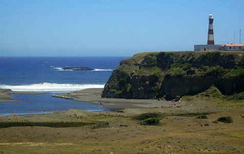 Vistas del Faro Carranza, Región de Maule, Chile
