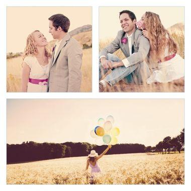 cartes de remerciement mariage trio de photos personnalisable en ligne http - Modele Carte Remerciement Mariage