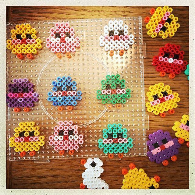 Easter chicks hama beads by annasofiawright