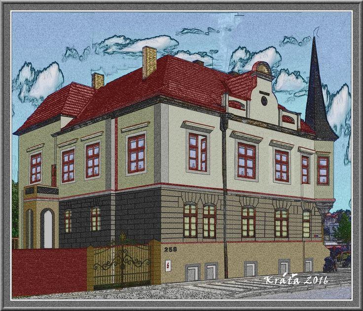 """Určeno k demolici Krásná vila kterou nechal architekt Roškot v roce 1928 přestavět a oni jí nechají už mnoho let chátrat. Tak jsem si ji vyfotil z tramvaje a ve PhotoFiltre """"nahodil"""". Bylo by tam krásné firemní sídlo, na exkluzivním místě."""
