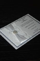 White and Bling Invitation