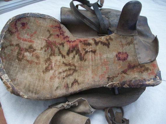 Antique Woman's Carpet Bag Side Saddle