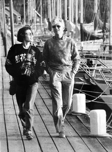 David Bowie and Geeling Ng(China Girl) in Gothenburg, Sweden, 10 June 1983 ©…