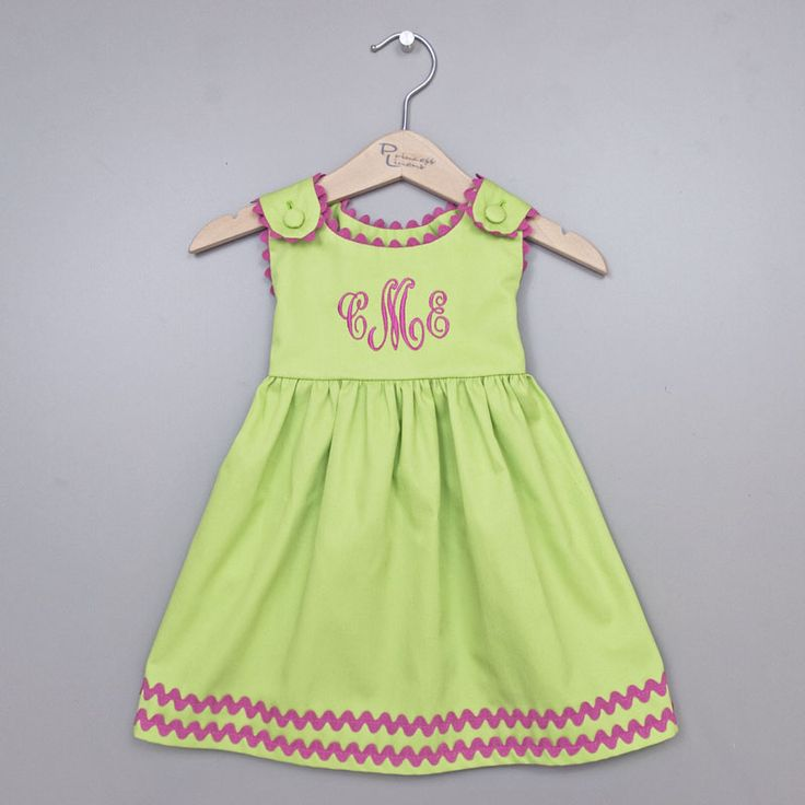 8 best baby girl monogrammed dresses images on pinterest little this garden princess green and pink monogrammed dress is a precious personalized baby gift for the negle Choice Image