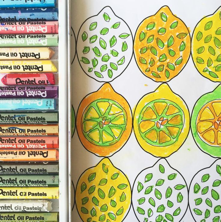The ImaginationBox: free abstract pattern lemons colouring template
