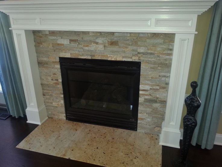 Stack Stone Fireplace Coastal Cottage Cool Stone Tile