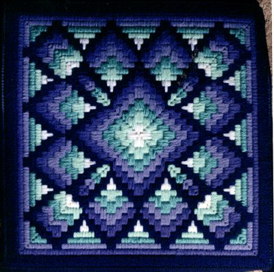Four way bargello pillow. ?Dalia pattern?