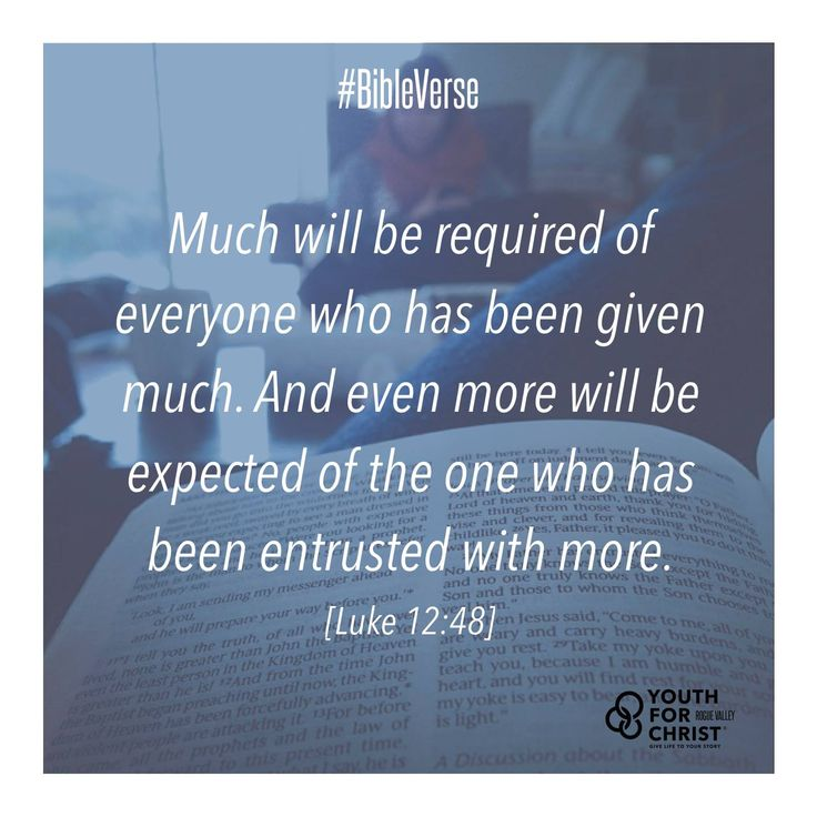 Image result for Luke 12:48