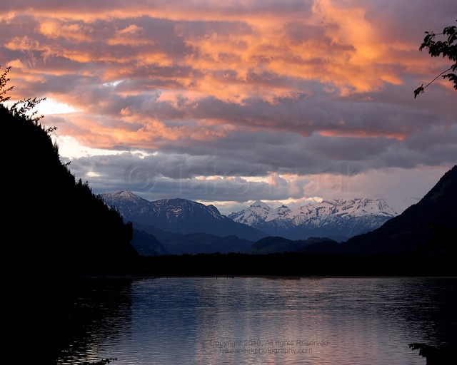 Crawford Bay - Kootenay Lake & McBeth Glacier at Sunset, BC