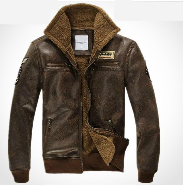 Leather army jacket