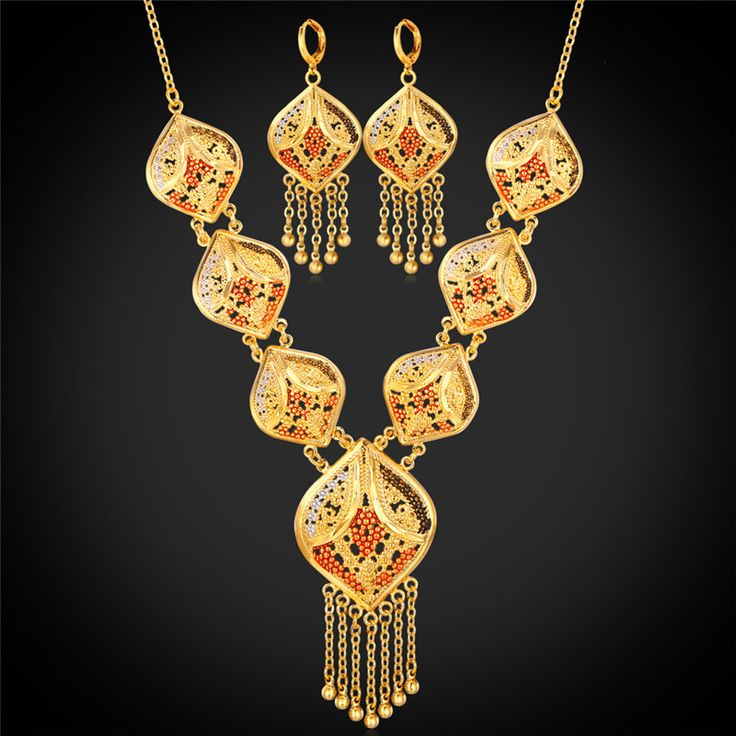 Cheap Jewelry Sets, Buy Directly from China Suppliers:                      2015 New Necklace Fashion Jewelry Set For Women Wedding Drop Earring 18K Real Gold Plated Vi