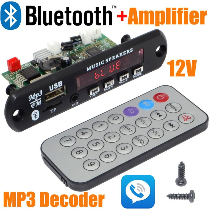 Wholesale Brand New 12V Car Handsfree Bluetooth MP3 decode board with Bluetooth module and build in 2*3 amplifier board-10000657