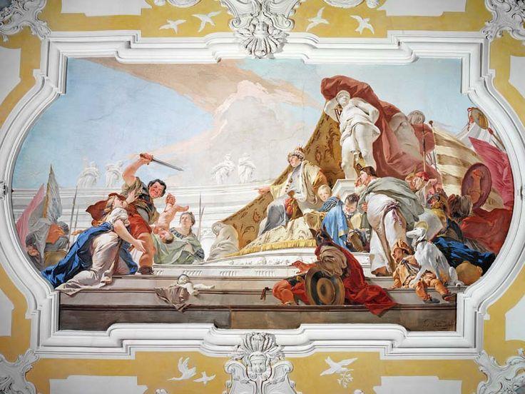 Jugamento de São Salomão.  Giambattista Tiepolo.  Palácio Patriarcal, Udine.  1696 - 1670