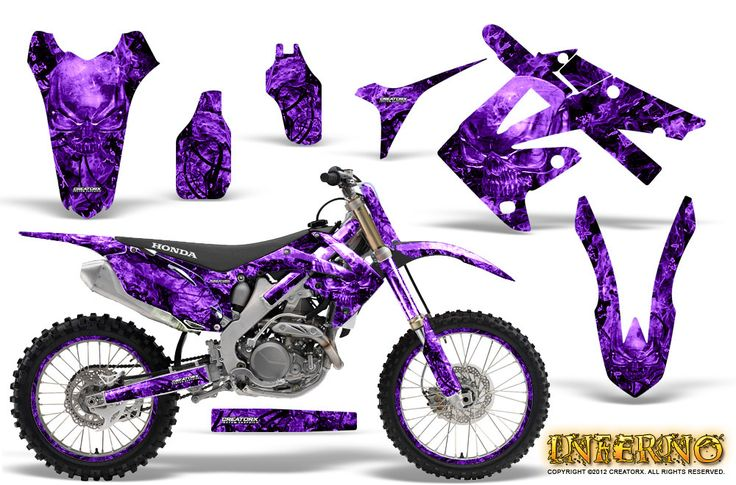 Purple dirt bike