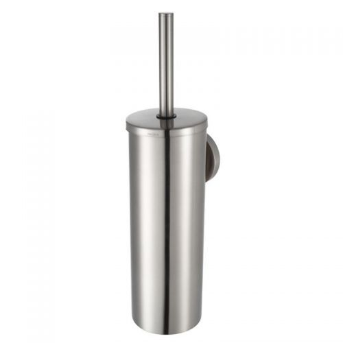 Featuring a brushed nickel finish the Pro 2500 metal toilet brush holder has a wall-mounted design to create a neat finish to any bathroom or cloakroom suite. This high quality toilet brush holder features contemporary styling and coordinates with the Pro 2500 bathroom accessories.