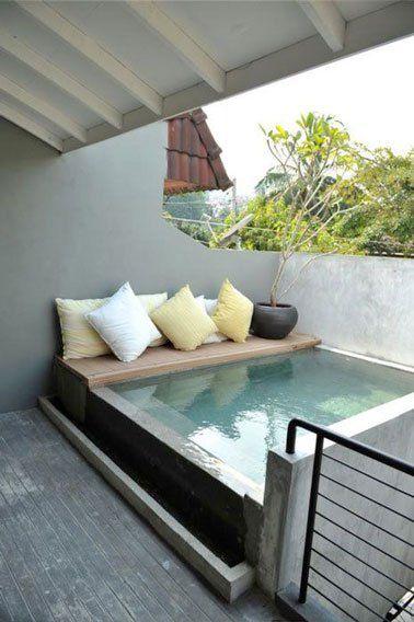 Petite terrasse à l\'aménagement plein d\'astuces déco   terrasse ...