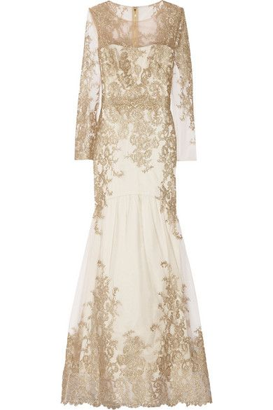 Lacey gold long sleeve dress